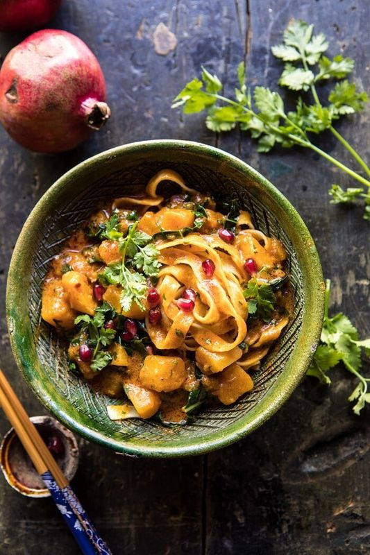 Slow Cooker Saucy Thai Butternut Squash Curry with Noodles from Half Baked Harvest