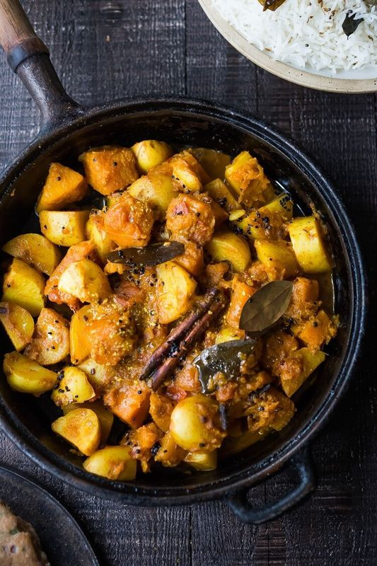 Rajasthani Butternut and Potato Curry from Feasting At Home