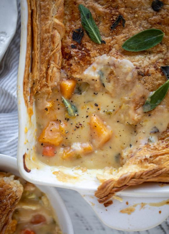Loaded Butternut Squash Pot Pie from How Sweet Eats