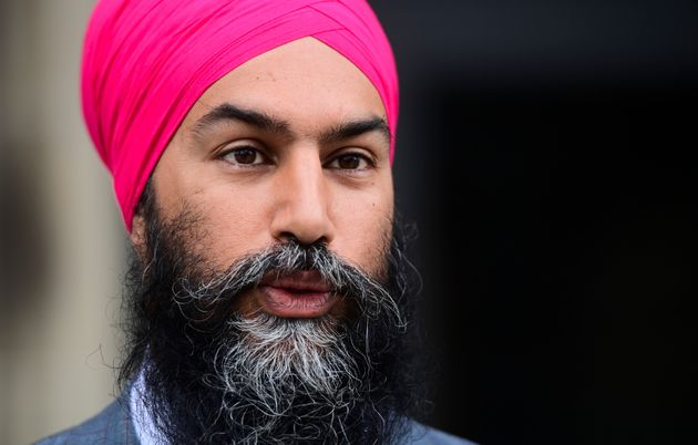 NDP Leader Jagmeet Singh arrives on Parliament Hill in Ottawa on Sept. 24,