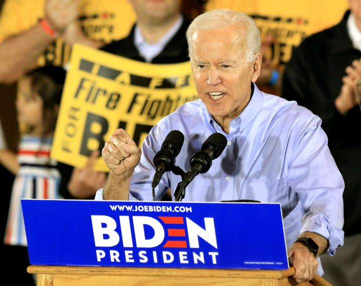 Joe Biden began his campaign in a union hall in Pittsburgh in April 2019. He has prioritized improving on Hillary Clinton's p