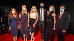 トランプ大統領の家族、マスクをつけて討論会へ。前回は着席後にマスクを外していたが...
