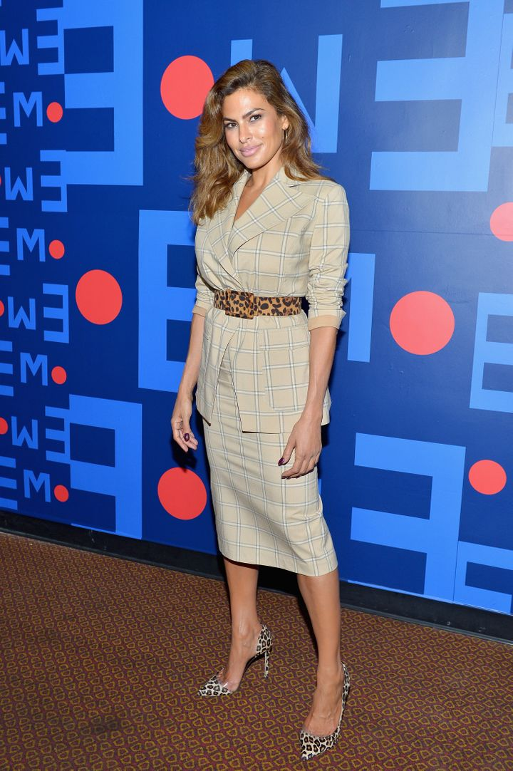 Eva Mendes attends Eva Mendes for New York & Company Fall Holiday 2018 Fashion Show at The Palace Theatre on September 13, 2018 in Los Angeles, California.