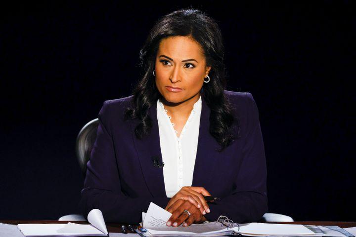 NBC News correspondent Kristen Welker moderated the final presidential debate at Belmont University in Nashville, Tennessee,