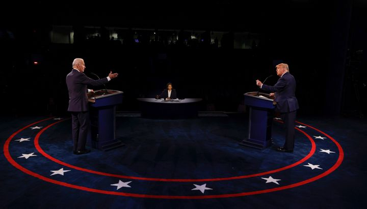 President Donald Trump and Democratic presidential nominee Joe Biden participate in the final presidential debate on Thursday