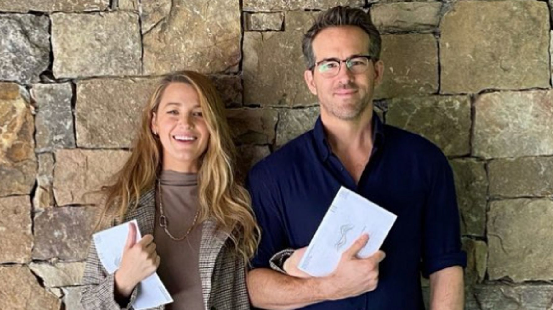 Ryan Reynolds Celebrates His First Time -- Voting With Blake Lively