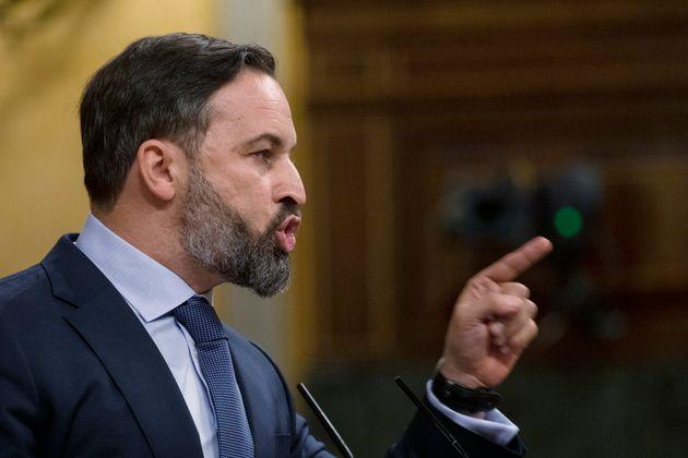 Santiago Abascal, este jueves durante la moción de censura en el Congres (Pablo Blazquez Dominguez/Pool...
