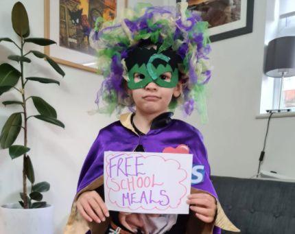 Vicki Gamble's daughter Betsy went to school dressed as 'Coronagirl'