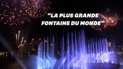Les images spectaculaires de la fontaine la plus large du monde à