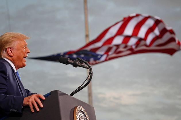 Donald Trump en campagne à Jacksonville en Floride le 24 septembre. (REUTERS/Tom