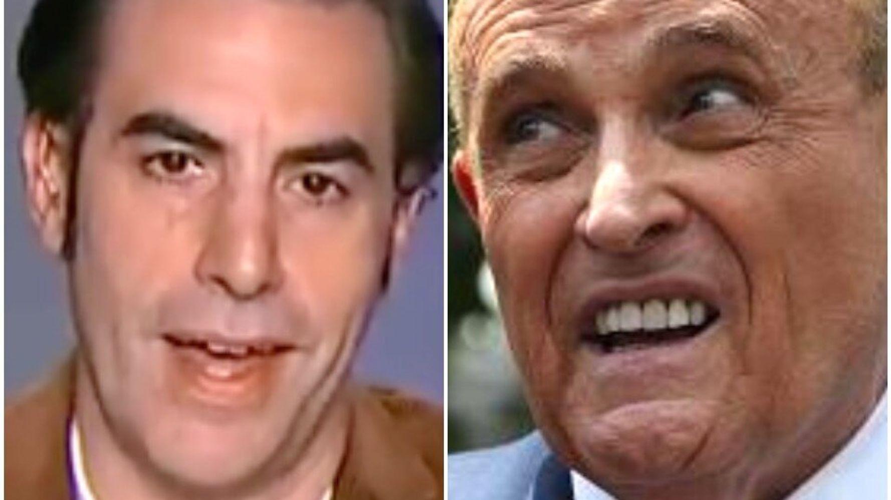 Sacha Baron Cohen Slaps Down Giuliani's 'Borat' Denial With Ominous Warning