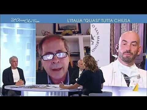 """Andrea Crisanti e Matteo Bassetti ospiti a """"L'aria che tira"""" su La7"""