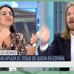 La reacción de un dirigente de Podemos cuando Monasterio (Vox) le llama