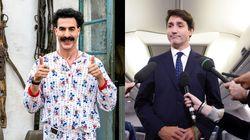 Borat s'en prend au «blackface» de Trudeau dans son nouveau