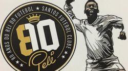 Pelé faz 80 anos e ganha homenagem em selo dos