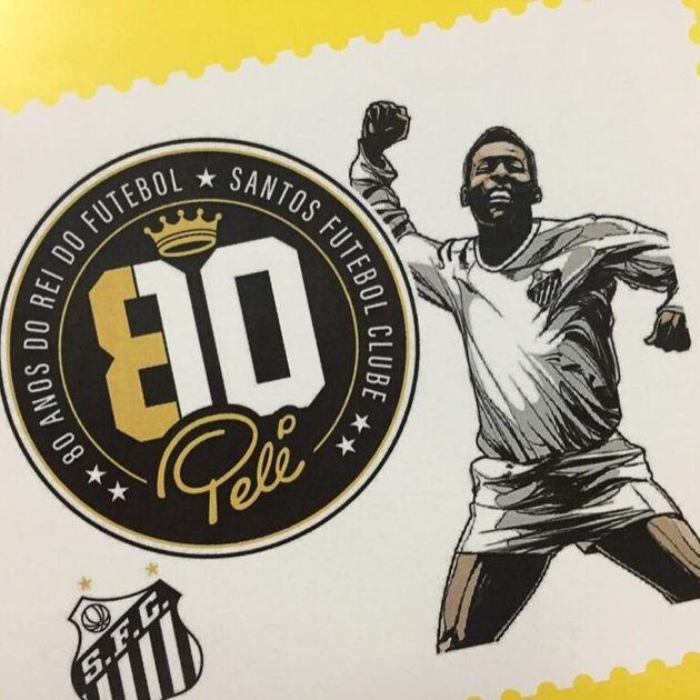 Selo comemorativo dos 80 anos do Rei