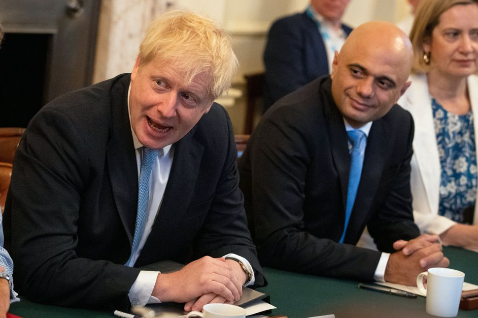 """Britain is better off with Biden"": British Prime Minister Boris Johnson, left, with Sajid Javid."