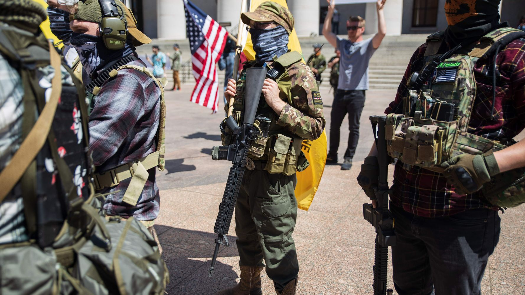 Verslag: Right-Wing Militia Groups 'Pose A Serious Threat' To Voters