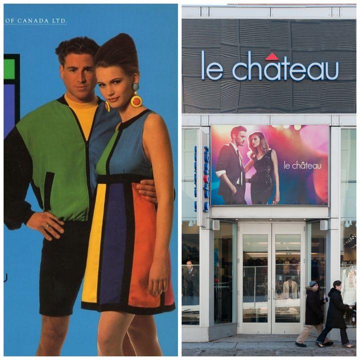 À gauche, une ancienne publicité Le Château/À droite, une succursale à Toronto.