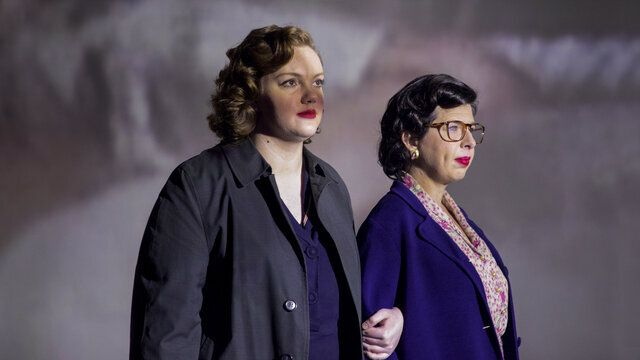 "Shannon Purser (left) and Heather Matarazzo as activists Del Martin and Phyllis Lyon in ""Equal,"" which debuted Thursday on HB"
