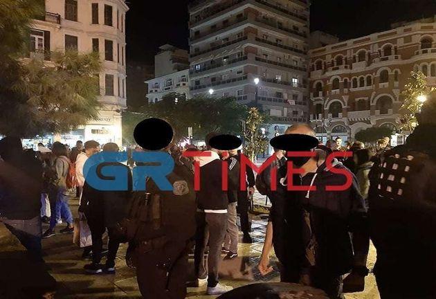 Απερίγραπτος συνωστισμός στο κέντρο της Θεσσαλονίκης τα