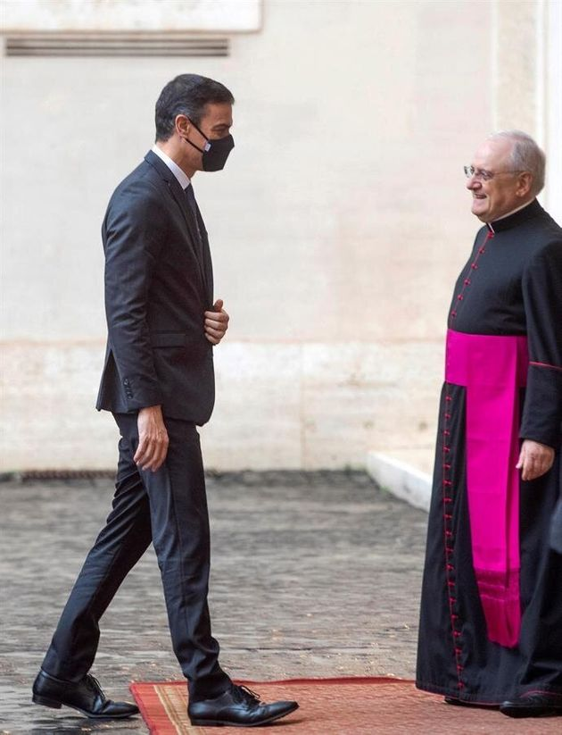 Pedro Sánchez, con el papa
