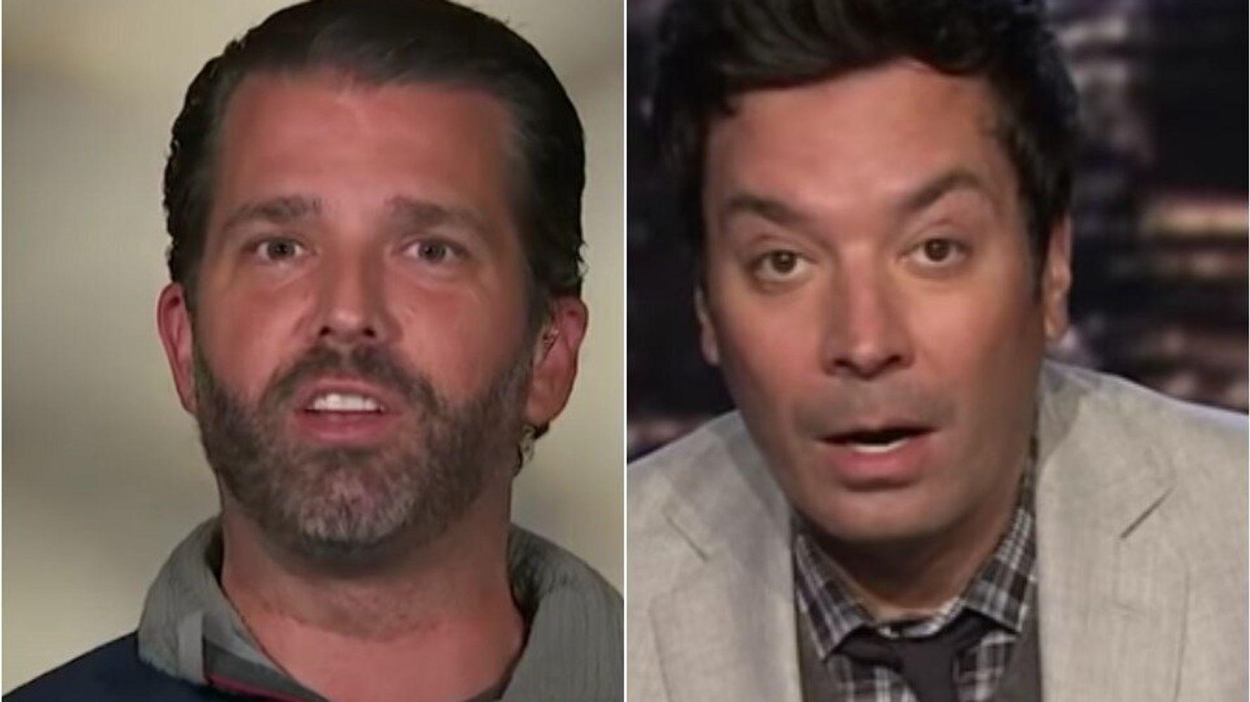 Donald Trump Jr.'s 'Pumped' Fox News Interview Gets The Treatment From Jimmy Fallon
