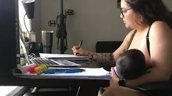 Il prof le impedisce di allattare durante la lezione online: