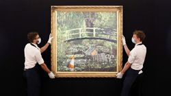 Banksy's Take On Claude Monet Painting Sells At Auction For $9.8