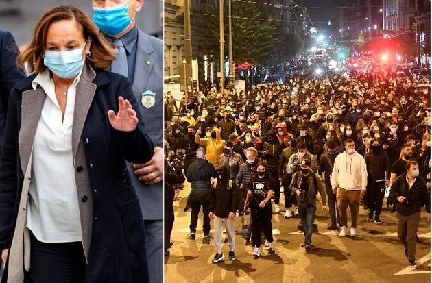 Lamorgese: A Napoli violenza organizzata, il dissenso non centra