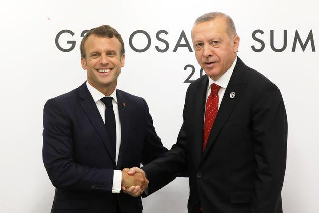Emmanuel Macron et Recep Tayyip Erdogan, ici à Osaka au Japon, le 28 juin
