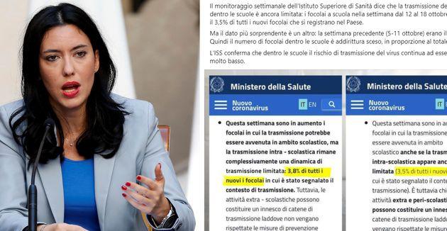 Lucia Azzolina: Il numero di focolai nelle scuole è sceso. Rischio contagio basso
