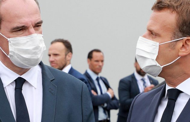Macron et Castex (ici le 14 juillet 2020) en appellent aux Français car