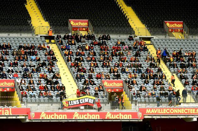 Lors de Lens - Saint-Étienne en Ligue 1, le 3 octobre