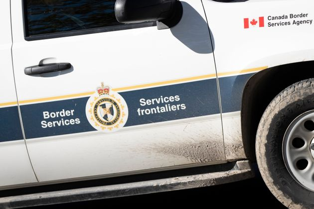A CBSA (Canada Border Services Agency) vehicle is pictured in Kingston, Ontario on Oct. 14,
