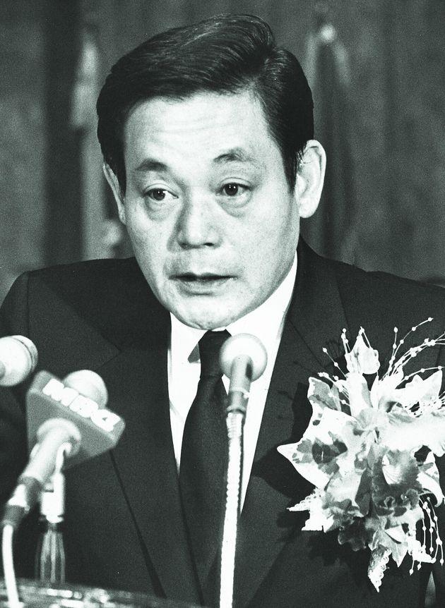 1987년 취임사를 하고 있는 이건희 삼성전자