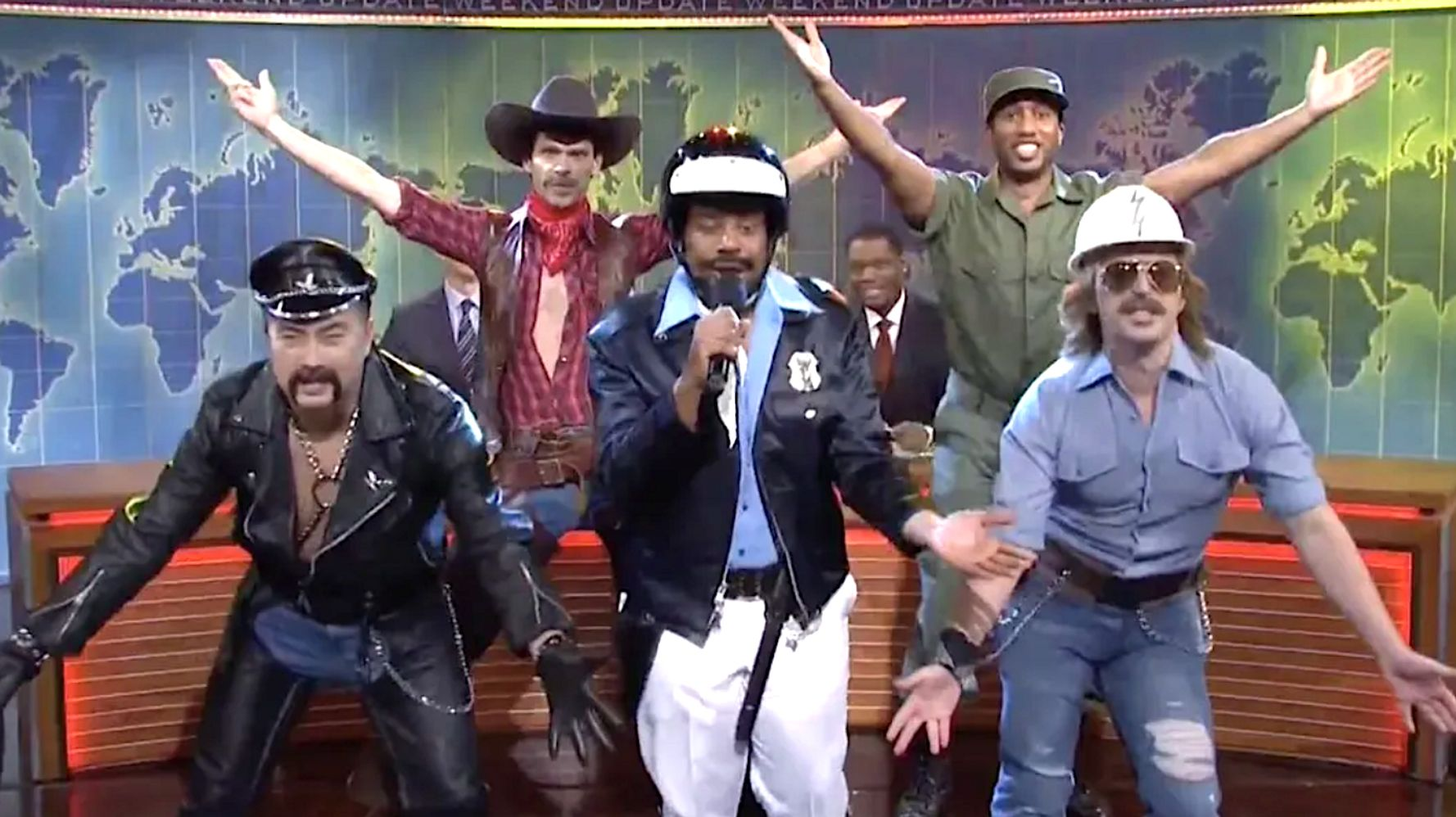 Spoof 'SNL' Village People Vow To Shave Ivanka's Head If Trump Keeps Using 'YMCA'