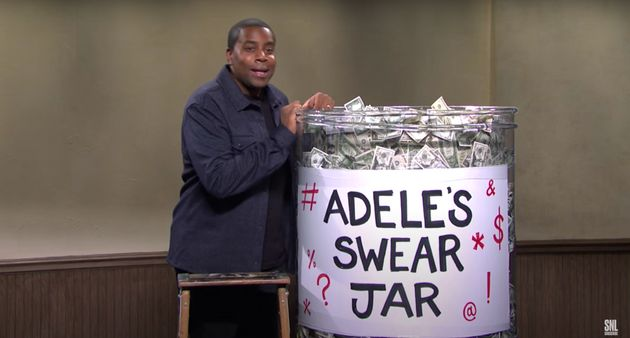 Adele had a swear jar to curb her bad language