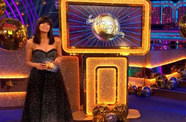 Claudia Winkleman hosting Strictly Come