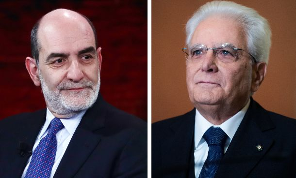 Il portavoce Giovanni Grasso; il presidente Sergio