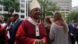 Archbishop of Washington Wilton D. Gregory departs following the 67th annual Red Mass at the Cathedral of Matthew the Apostle, in Washington, U.S., October 6, 2019. REUTERS/Sarah Silbiger