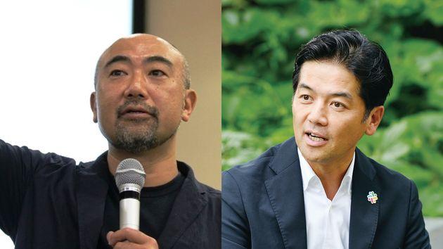 (左)一橋ビジネススクールの楠木建教授、(右)Slack日本法人代表 佐々木聖治氏