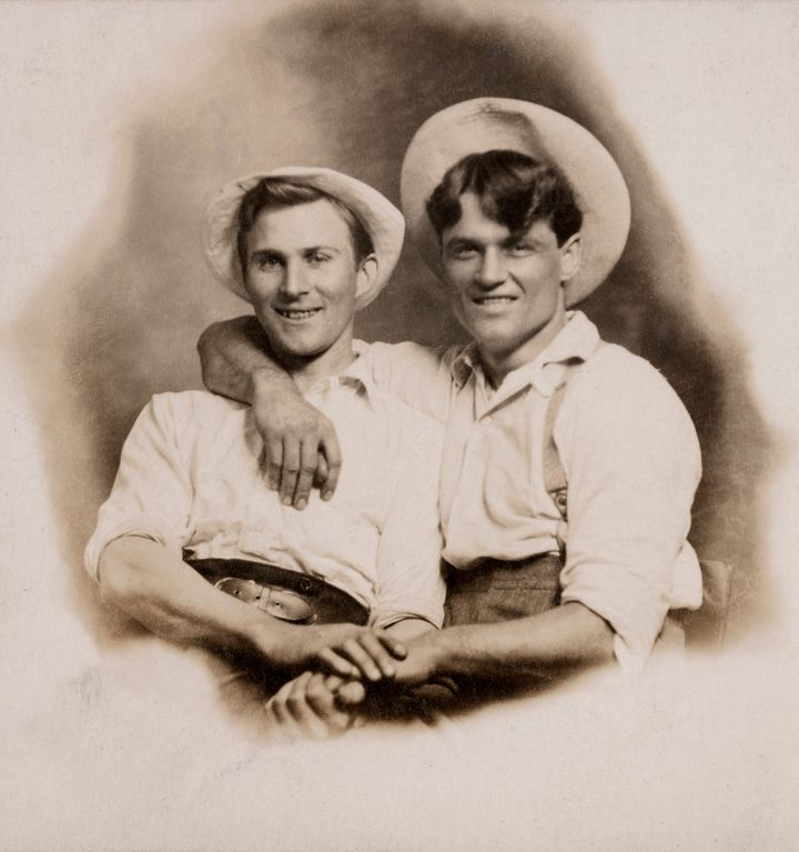 "Hugh Nini and Neal Treadwell's new book, ""Loving: A Photographic History of Men in Love, 1850s ― 1950s,"" showcases some"
