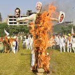 Not Just Dusshera: Protesting Punjab Farmers Have Been Burning Effigies Of Modi, Shah For