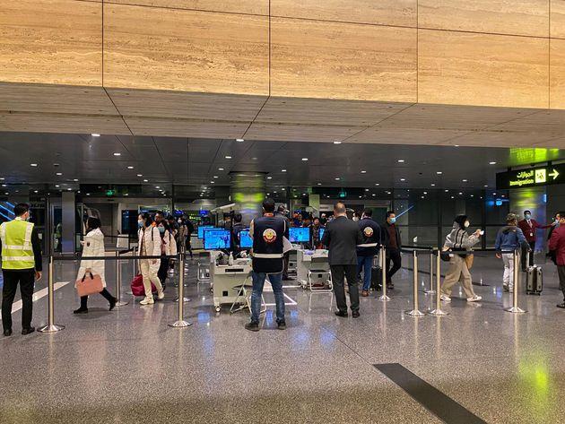 L'aéroport de Doha le 24 janvier 2020 (Photo by STR/AFP via Getty