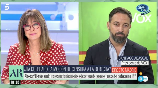 Ana Rosa Quintana y Santiago Abascal, este