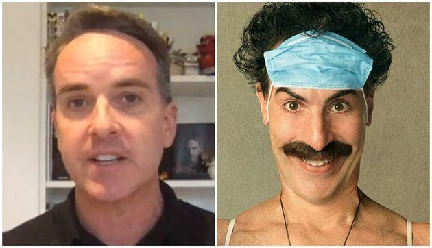Sacha Lord (left) and Sacha Baron Cohen as