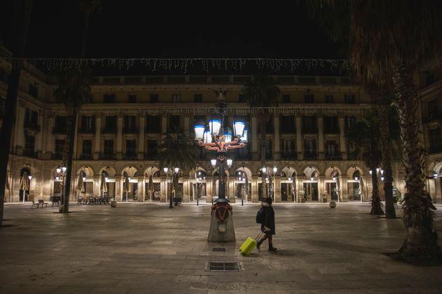 La Plaza Real de Barcelona el 25 de octubre de 2020 (Xavi Torrent/Getty