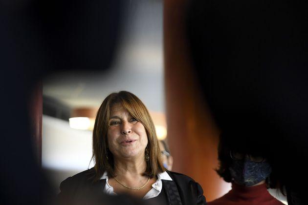 Michele Rubirola en conférence de presse le 15 octobre 2020 (Photo by NICOLAS TUCAT/AFP via Getty