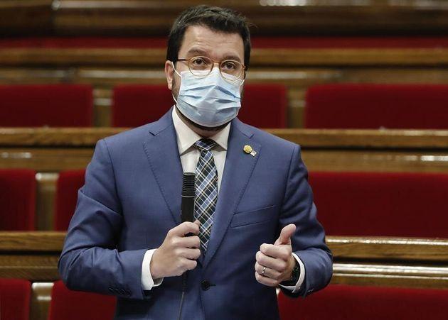 El 'president' catalán aprovecha la conferencia con Von der Leyen para reivindicar un